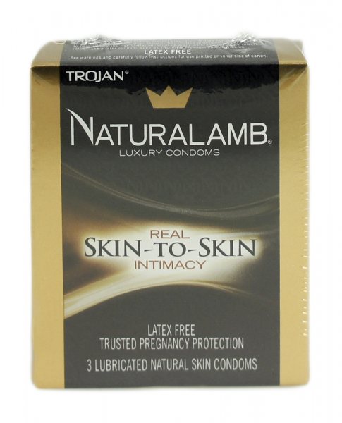 Naturalamb Natural Skin Condoms Lubricated 3 Each 1253185