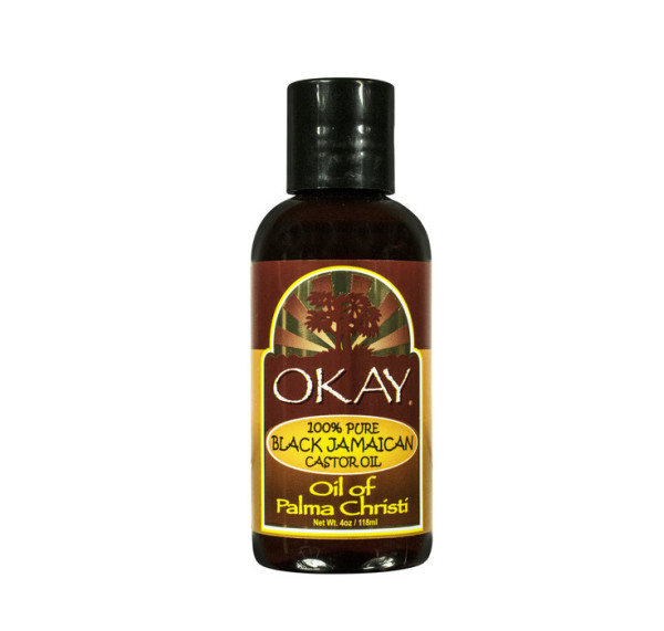Okay 100% Pure Black Jamaican Castor Oil, 4 oz 1390815