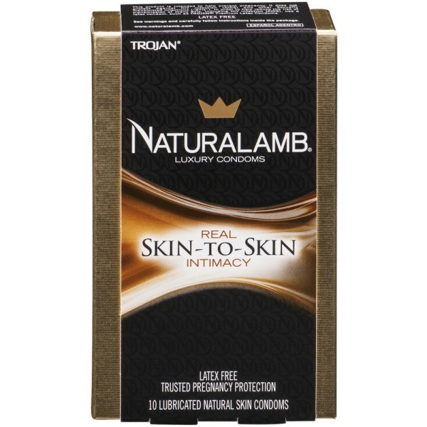 TROJAN NaturaLamb Luxury Lubricated Natural Skin Condoms 10 1319185