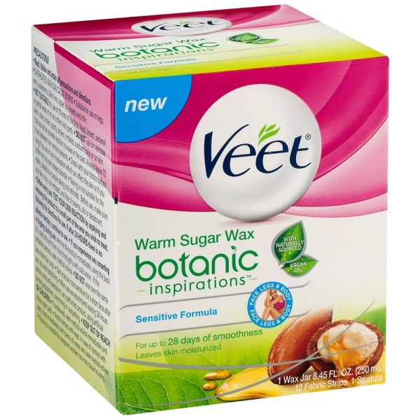 VEET Botanic Inspirations Warm Sugar Wax Kit, Sensitive Form 1440360