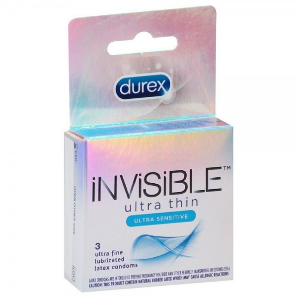 Durex Invisible Ultra Thin Ultra Sensitive Ultra Fine Condom 1421885