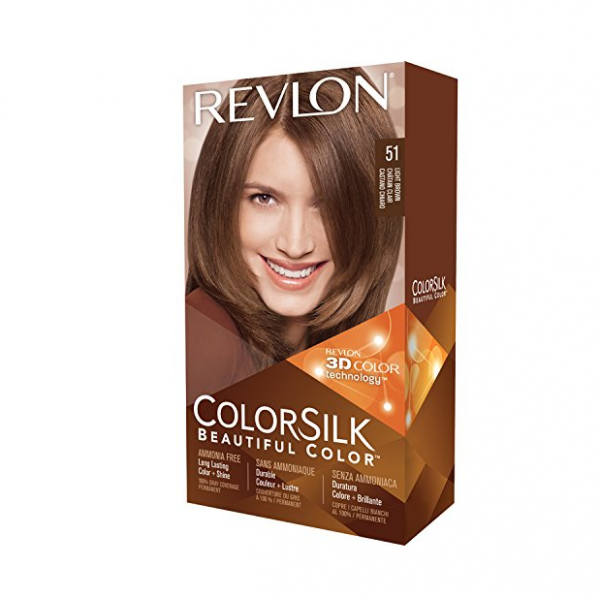 Revlon ColorSilk Hair Color, 51 Light Brown 1 ea 1183550
