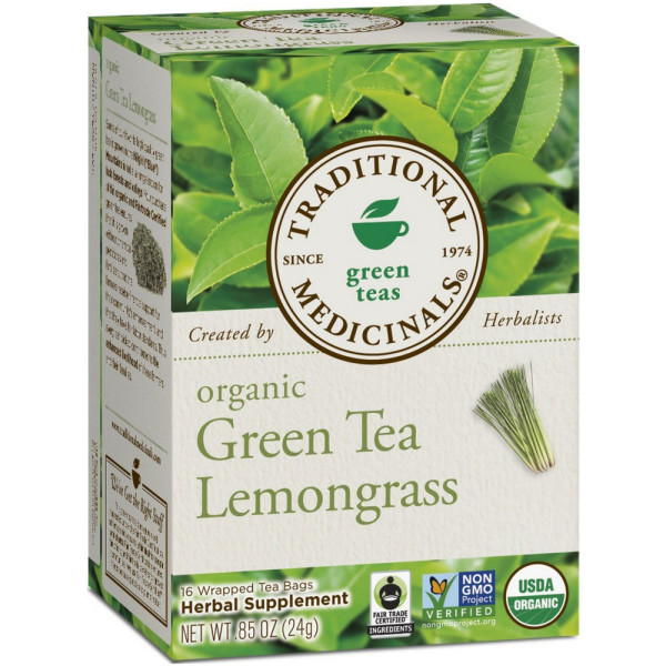 Traditional Medicinals Herbal Green Tea, Green Tea Lemongras 1186465