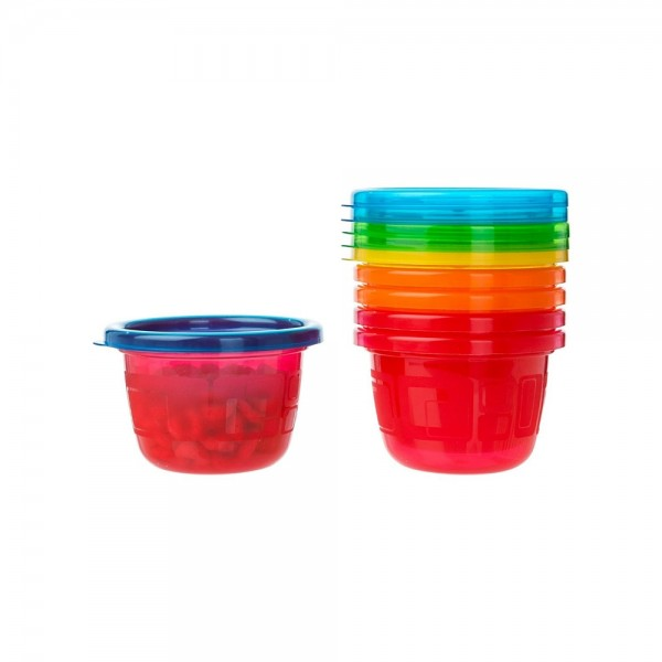 The First Years Take & Toss Snack Cups 4.5 oz, Assorted 6 ea 1444500