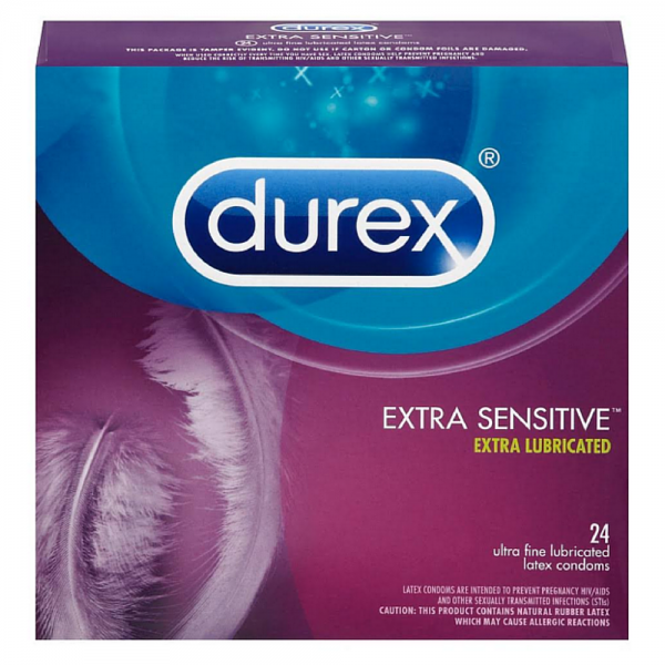 Durex Extra Sensitive Ultra Thin Lubricated Condoms 24 ea 1253765
