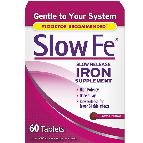 Image of Slow Fe Slow Release Iron Tablets 60 ea