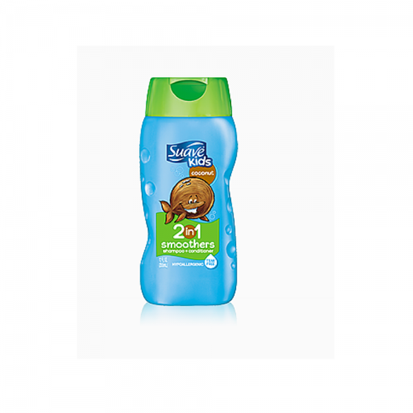 Suave Kids 2-in-1 Shampoo Smoothers, Cowabunga Coconut 12 oz 1191430