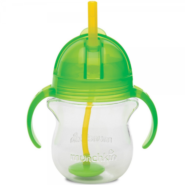 Munchkin Click Lock Weighted Flexi-Straw Cup, Colors May Var 1453370