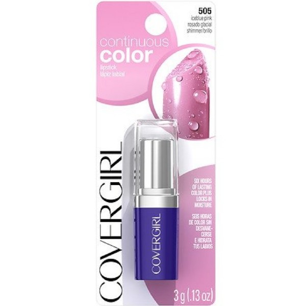CoverGirl Continuous Color Lipstick, Iceblue Pink [505] 0.13 1354245