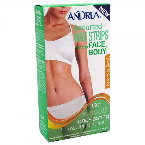 Andrea Assorted Wax Strips For The Face & Body 6 ea 1428225