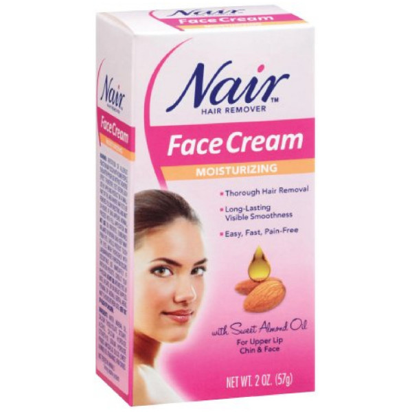Nair Hair Remover Moisturizing Face Cream with Sweet Almond 1183955