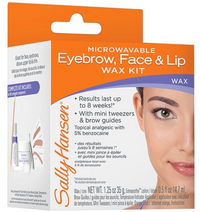 Sally Hansen Microwaveable Eyebrow, Face & Lip Wax Kit 1337505