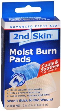 2nd Skin Moist Burn Pads 1.5 Inches X 2 Inches 6 Each 1200860