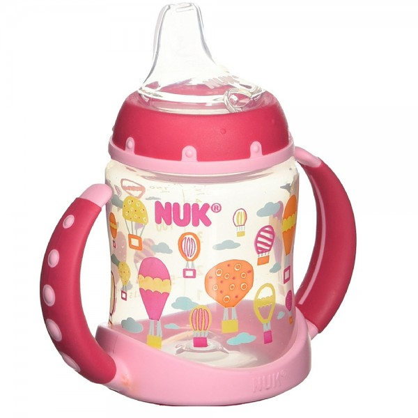 NUK Trendline Learner Cup with Silicone Spout, Babytalk Girl 1312420