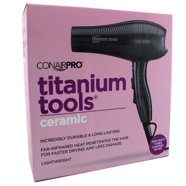 Conair Pro Titanium Tools Ceramic Turbo Charged Dryer 1 ea 1492035