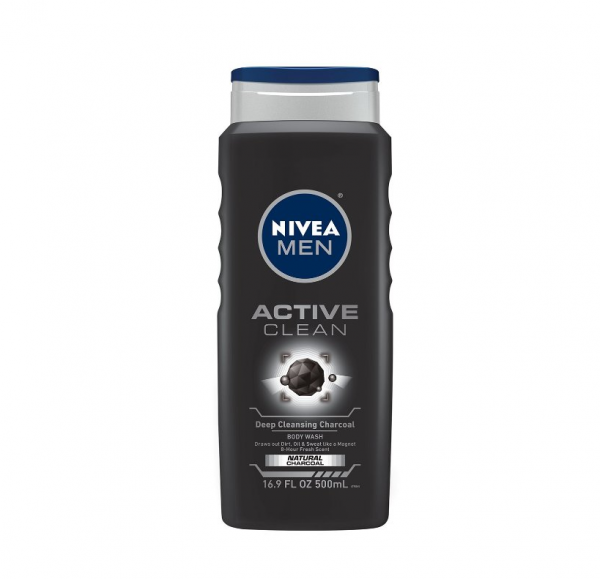 Nivea For Men Active Clean Body Wash Natural Charcoal