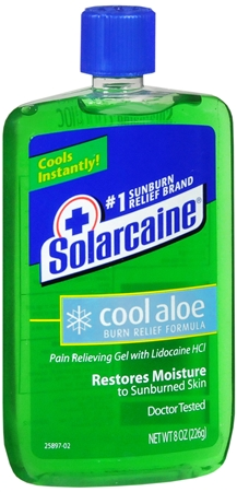 Solarcaine Cool Aloe Burn Relief Gel 8 oz 1160375