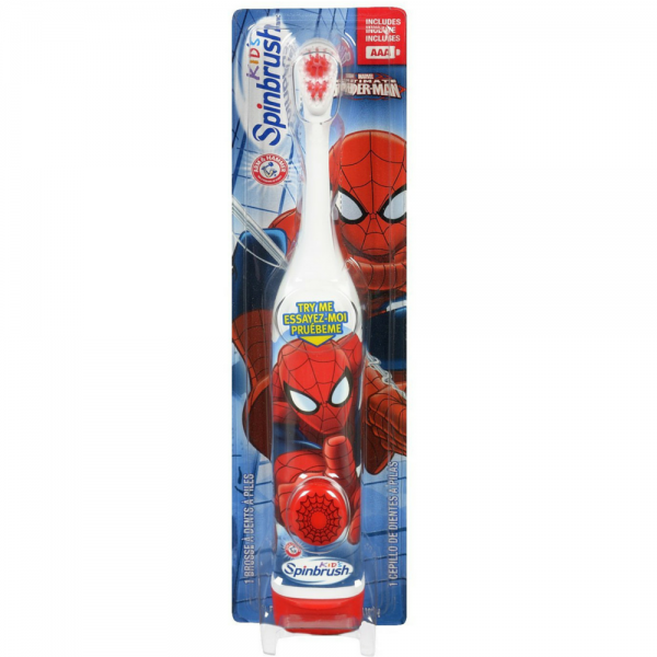 ARM & HAMMER Kid's Spinbrush Spiderman 1 Each 1191220