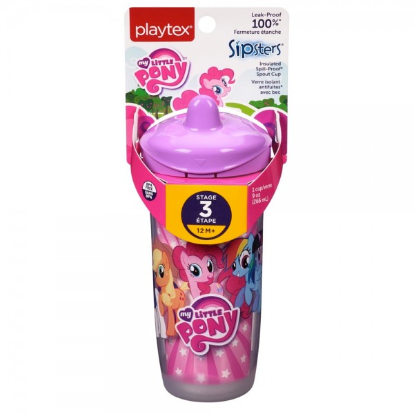 Playtex Sipsters My Little Pony Spout Sippy Cups 9 oz, Assor 1443910