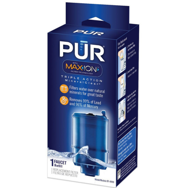 PUR Water Filtration System, Mineral Clear, Refill 1 ea 1482125