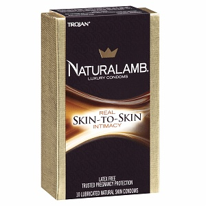 TROJAN Luxury Lubricated Natural Skin Condoms 10 ea 1319185