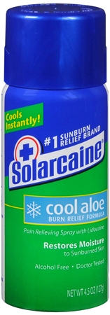Solarcaine Cool Aloe Burn Relief Spray 4.50 oz 1160380