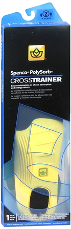 Spenco PolySorb Cross Trainer Insoles #2 1 Pair 1228035