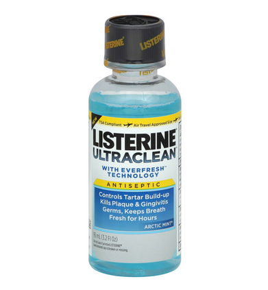 Listerine Ultraclean Mouthwash, Artic Mint 3.21 oz 1247770