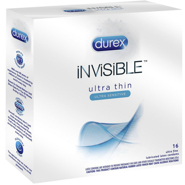 Durex Invisible Ultra Thin & Ultra Sensitive Premium Condoms 1489030