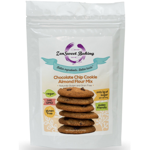 Image of ZenSweet Baking Chocolate Chip Cookie Almond Flower Mix 9 oz