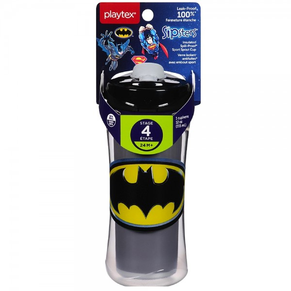 Playtex  Sipsters Super Friends Sport Spout 12 oz Sippy Cups 1443800