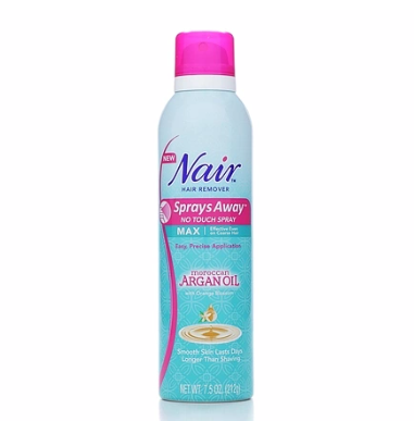 Nair Sprays Away With Moroccan Argan Oil, 7.5 oz 1383155