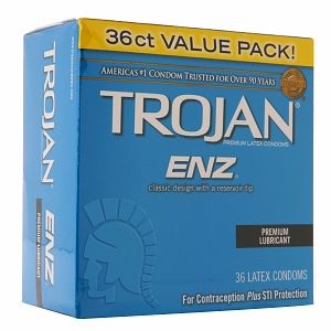 TROJAN Enz Premium Lubricant Latex Condoms 36 ea 1327845
