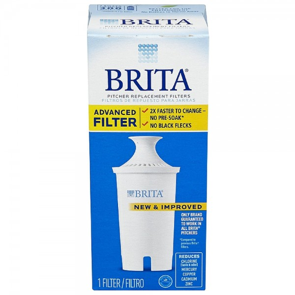 Brita Water Pitcher Replacement Filters, White 1 ea 1414135