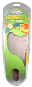 Image of Comfort Gel Work Insole, Mens Sizes 8-13 1 pair