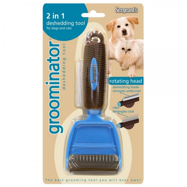 Sergeant's Groominator 2 in 1 Deshedding Tool for Dog & Cat 1454170