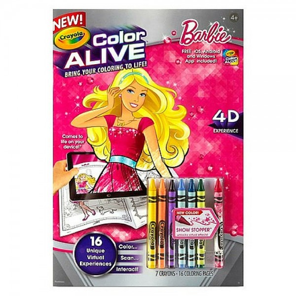 Crayola Color Alive, Barbie 1 ea 1413090
