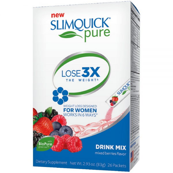 SLIMQUICK Pure Weight Loss Drink Mix Designed for Women, Mix 1239745