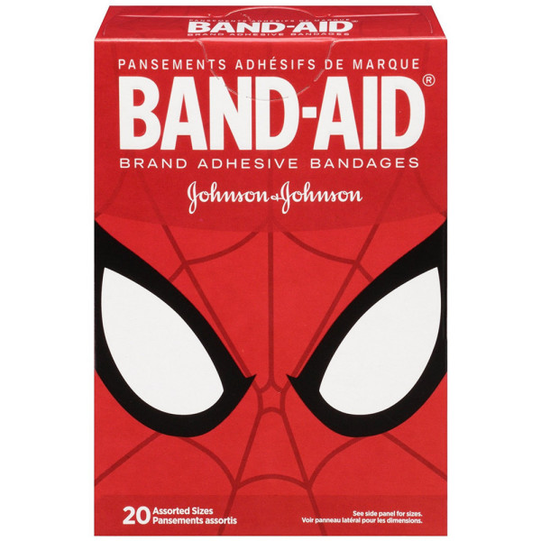 BAND-AID Marvel Spiderman Adhesive Bandages, Assorted Sizes 1490350
