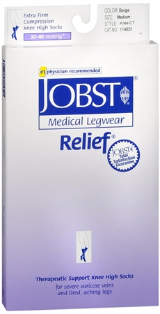 JOBST Medical LegWear Relief Knee High Socks Firm Compressio 1198565