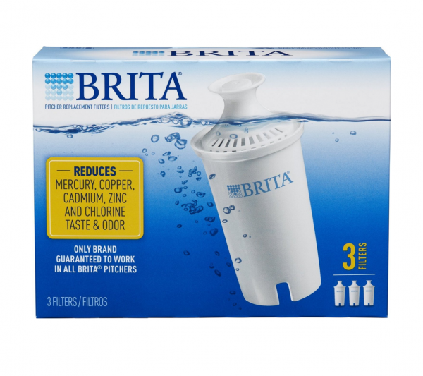 Brita Water Pitcher Replacement Filters, White 3 ea 1402660
