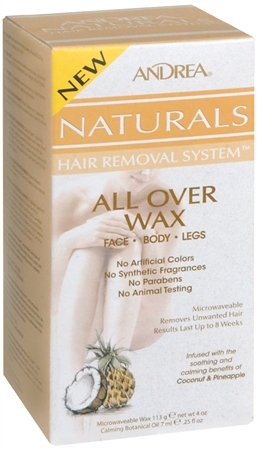 Andrea Naturals Hair Removal System All Over Wax 1 Each 25oz 1204570