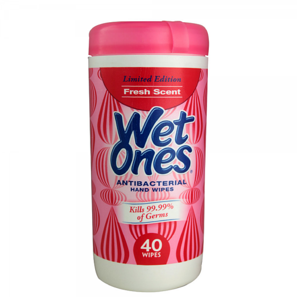 WET ONES Antibacterial Hand Wipes, Fresh Scent 40 Each 1238000